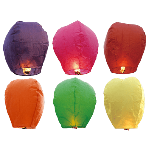 Sky Lantern Assorted Colors Boxed
